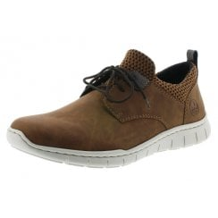 B8753-26 Brown Flat Lace Up Shoe/Trainer