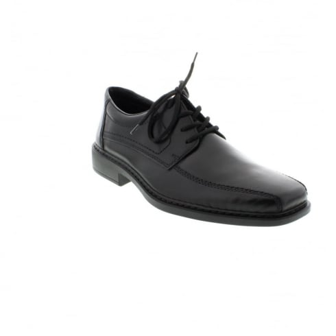 Rieker Black leather flat lace up shoe