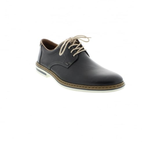 Rieker Blue leather flat lace up shoe