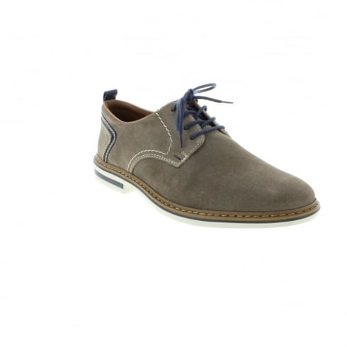Rieker Grey Suede leather flat lace up shoe