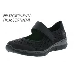 L32B5-00 Black Mary Jane Style Trainer Shoe