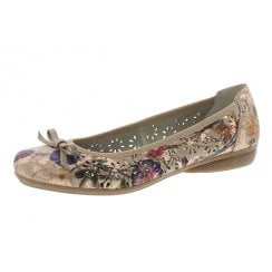 L8356-90 Rose/Gold Flat Ballet Pump Style Shoe