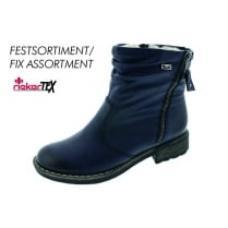 Navy waterproof gortex flat ankle boot with side zip fastening