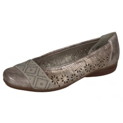 Rose/bronze flat ballet pump style shoe