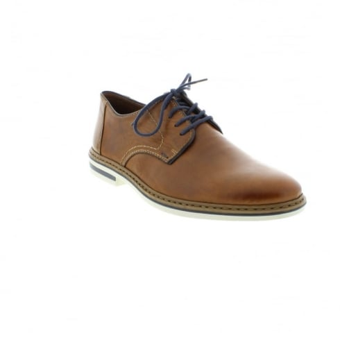 Rieker Tan leather flat lace up shoe