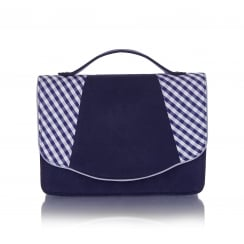 Belfast Blue Checked Handbag