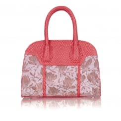 Cancun Coral Handbag