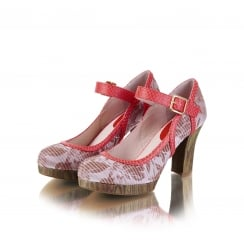 Cassandra Coral Mary Jane Style Shoe