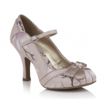 Cleo Pink Heeled Mary Jane Style Shoe