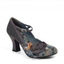 Dee Grey Heeled Mary Jane Style Shoe