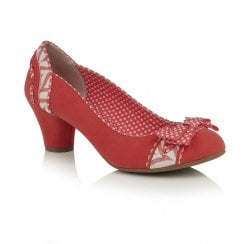 Hayley Coral Heeled Court Shoe