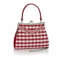 Mendoza Red Check Handbag