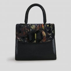 Santiago Black/Rust Handbag
