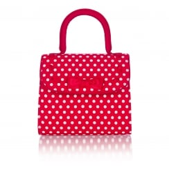 Santiago Red Spotty Handbag
