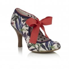 Willow Sage Floral Ribbon Tie Court Shoe