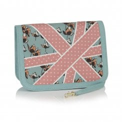Windsor Mint Green/Pink Clutch Style Handbag