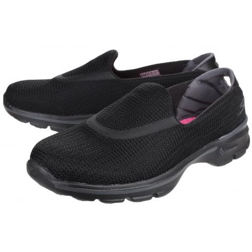 Skechers Black Go Walk 3 slip on trainer