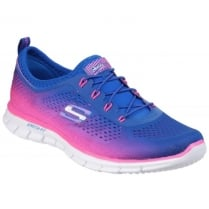 Blue/Pink Active Glider - Fearless Elasticated Trainer