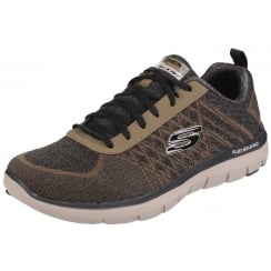 Brown/Olive Flex Advantage 2.0 Golden Point Lace Up Trainer