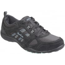 Charcoal/Grey Breathe Easy - Good Luck Lace Up Trainer