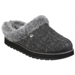 Charcoal/Grey Keepsakes - Ice Angel Slip On Mule Slipper