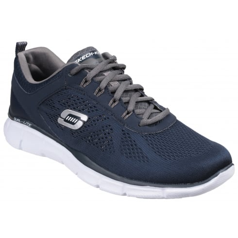 Skechers Grey/Black Equalizer 2.0 True Balance Lace Up Trainer