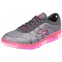 Grey/Pink Go Flex - Ability lace up sports trainer