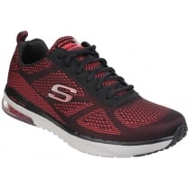Red/Black Skech-Air Infinity Memory Foam Lace Up Trainer