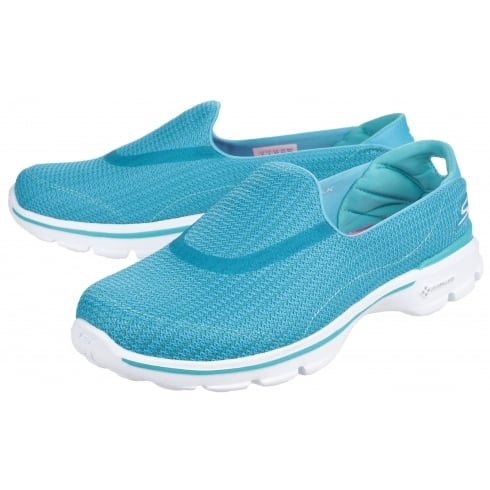 b8406661f5ff Turquoise Go Walk 3 slip on trainer - from The Shoe Box Yarm UK